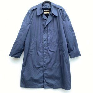 Vintage Military Size 46L Coat Navy Blue Overcoat